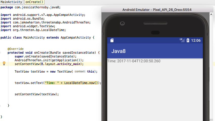 java 8 for android development api and date time libraries medianic