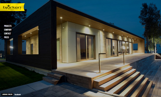 bjorken architects website fullscreen