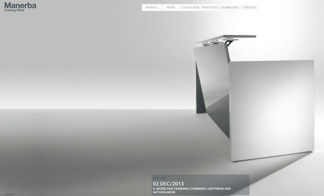 manerba evolving office website architecture
