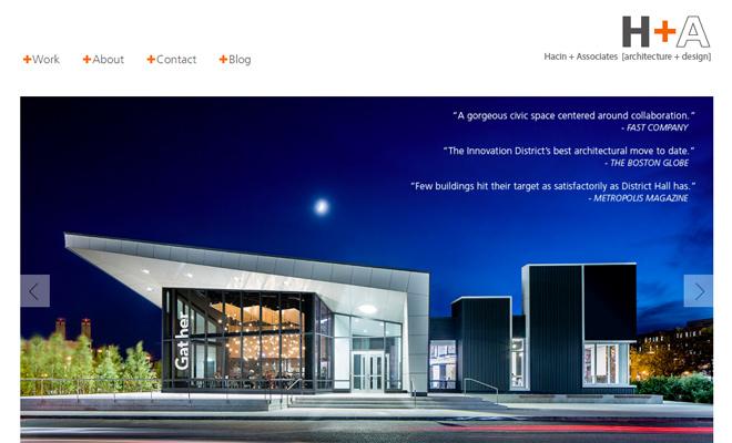 hacin and associates website layout