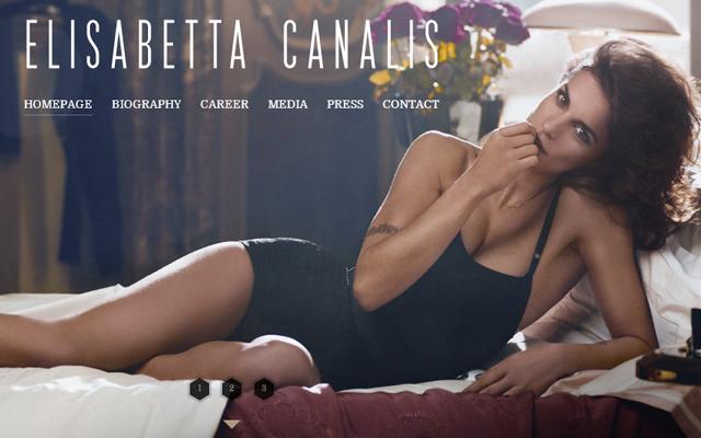 elisabetta canalis model fullscreen background website layout